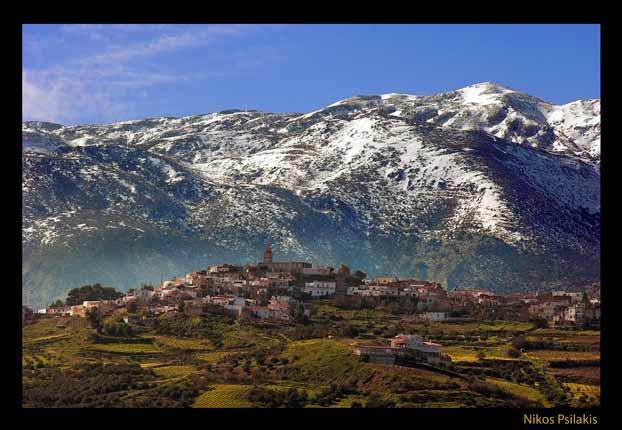 Άγιος Μύρων, χιονισμένος Ψηλορείτης